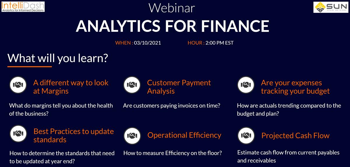 Webinar - Analytics for Finance Banner